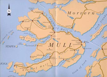 Map of Mull and Iona