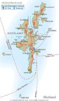 Map of Shetland